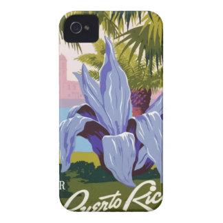 Capa Para iPhone 4 Case-Mate Viagens vintage Puerto Rico