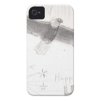 Capa Para iPhone 4' th da águia americana dos fogos-de-artifício de