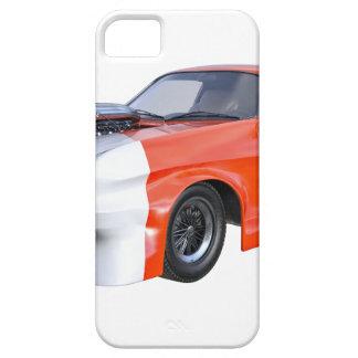 Capa Para iPhone 5 2016 carro alaranjado e branco do músculo