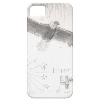 Capa Para iPhone 5 4' th da águia americana dos fogos-de-artifício de