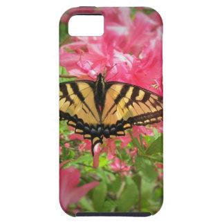 Capa Para iPhone 5 A borboleta de Swallowtail senta-se em azáleas