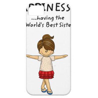 Capa Para iPhone 5 A felicidade… está tendo a melhor irmã. .pn do