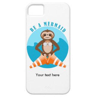 Capa Para iPhone 5 A preguiça engraçada seja uma sereia