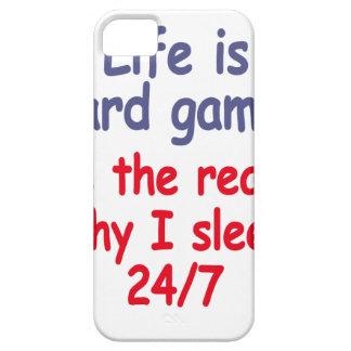Capa Para iPhone 5 A vida é jogo duro, ele é a razão pela qual eu