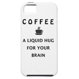 Capa Para iPhone 5 Abraço líquido do café para seu cérebro