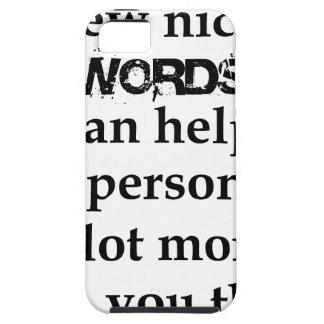 Capa Para iPhone 5 algumas palavras agradáveis podem ajudar uma