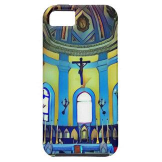 Capa Para iPhone 5 Altar vibrante azul amarelo bonito da igreja