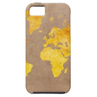 Capa Para iPhone 5 amarelo do mapa do mundo