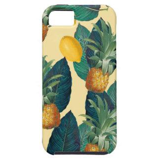Capa Para iPhone 5 amarelo dos limões do abacaxi
