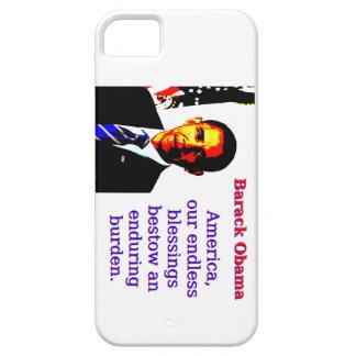 Capa Para iPhone 5 América nossas bênçãos infinitas - Barack Obama
