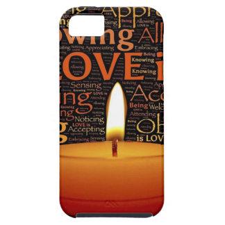 Capa Para iPhone 5 Amor, citações da vela
