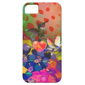Capa Para iPhone 5 Amor da natureza com fundo multicolorido