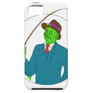 Capa Para iPhone 5 Arte da camada de sujidade do carretel de Rod de