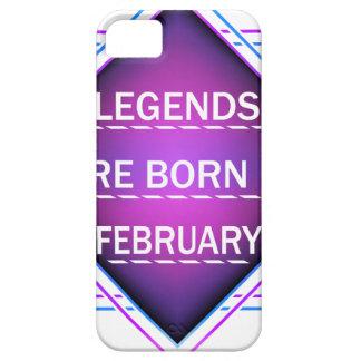 Capa Para iPhone 5 As legendas são nascidas em fevereiro