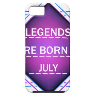 Capa Para iPhone 5 As legendas são nascidas em julho