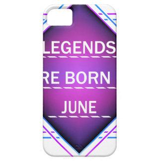 Capa Para iPhone 5 As legendas são nascidas em junho