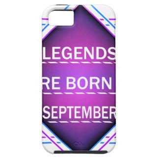 Capa Para iPhone 5 As legendas são nascidas em setembro