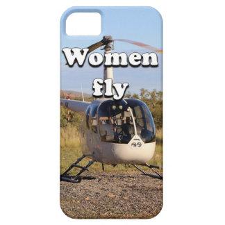 Capa Para iPhone 5 As mulheres voam: Helicóptero 2 (brancos)