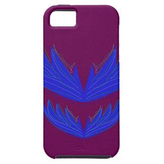 Capa Para iPhone 5 Asas do design/azul