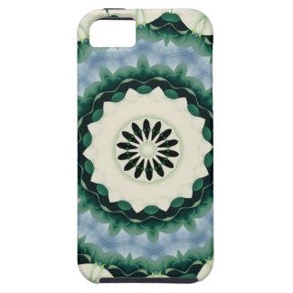 Capa Para iPhone 5 Azul Cerulean e mandala verde de Sacramento