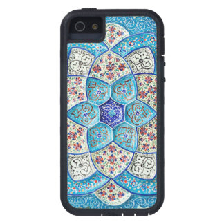 Capa Para iPhone 5 Azul de turquesa marroquino tradicional, branco,