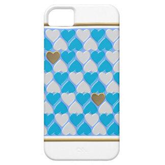 Capa Para iPhone 5 Azul, teste padrão bávaro branco