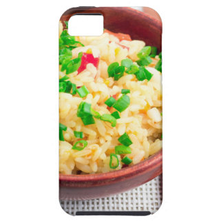 Capa Para iPhone 5 Bacia de madeira de arroz e de alho-porro