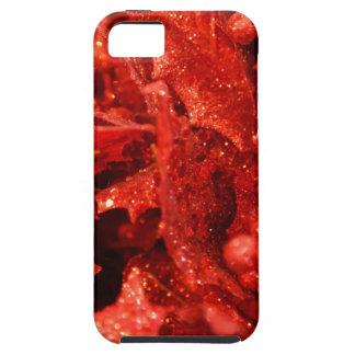 Capa Para iPhone 5 bagas vermelhas abstratas do Natal
