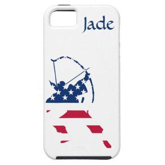 Capa Para iPhone 5 Bandeira americana do arqueiro do tiro ao arco dos