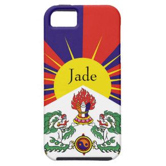 Capa Para iPhone 5 Bandeira da bandeira do leão de Tibet ou de neve