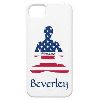 Capa Para iPhone 5 Bandeira da ioga do americano da meditação dos EUA