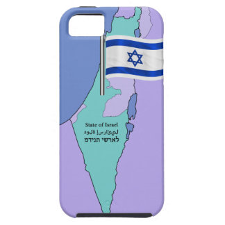 Capa Para iPhone 5 Bandeira e mapa de Israel