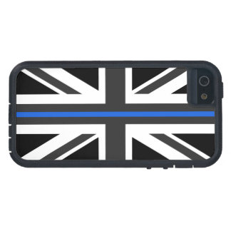 Capa Para iPhone 5 Bandeira fina de Blue Line Reino Unido