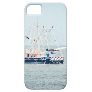 Capa Para iPhone 5 Barco azul do camarão no oceano
