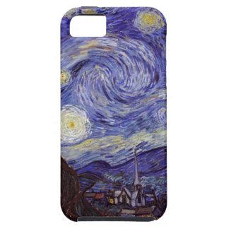 Capa Para iPhone 5 Belas artes do vintage da noite estrelado de