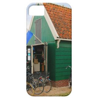 Capa Para iPhone 5 Bicicletas, vila holandesa do moinho de vento,