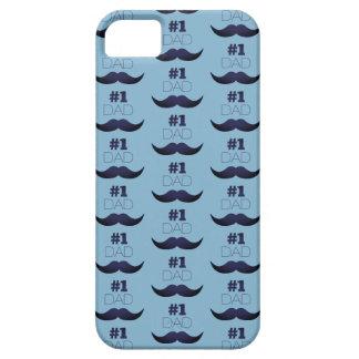 Capa Para iPhone 5 Bigode azul do pai #1 - número um