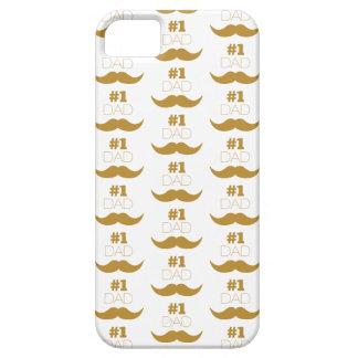 Capa Para iPhone 5 Bigode do ouro do pai #1 - número um