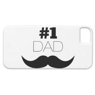 Capa Para iPhone 5 Bigode do preto do pai #1 - número um