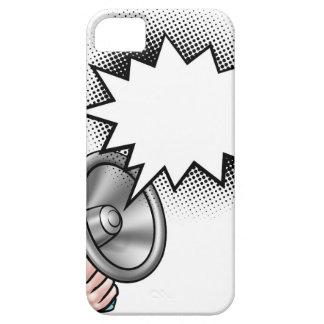 Capa Para iPhone 5 Bolha do discurso da banda desenhada do megafone