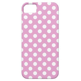 Capa Para iPhone 5 Bolinhas brancas em rosa pálido
