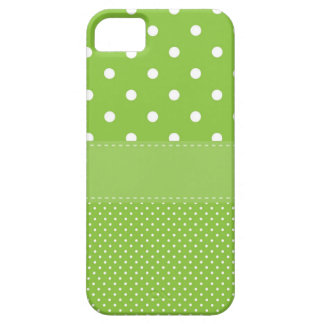 Capa Para iPhone 5 bolinhas no verde