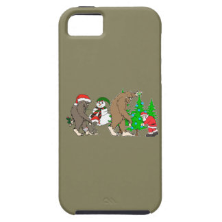 Capa Para iPhone 5 Boneco de neve do papai noel de Bigfoot