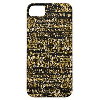 Capa Para iPhone 5 Brilho moderno & Sparkles do falso do preto & do
