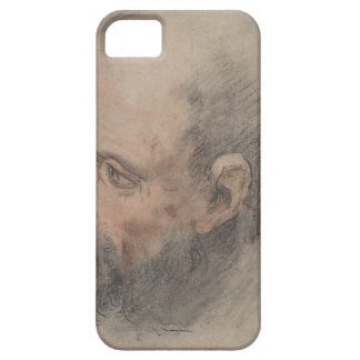 Capa Para iPhone 5 Cabeça de um homem farpado que olha à esquerda