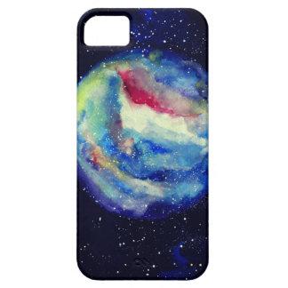 Capa Para iPhone 5 Caixa do planeta, arte do cosmos da aguarela