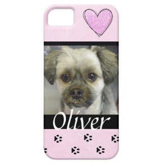 Capa Para iPhone 5 Caixa personalizada do telemóvel do cão foto
