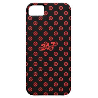 Capa Para iPhone 5 Caixa preta & vermelha