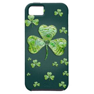 Capa Para iPhone 5 Caixa verde elegante do iPhone 5 dos trevos