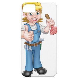 Capa Para iPhone 5 Canalizador fêmea dos desenhos animados que